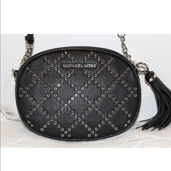 Michael Kors Ginny Grommet Studded Crossbody Bag 61b71cac22eef